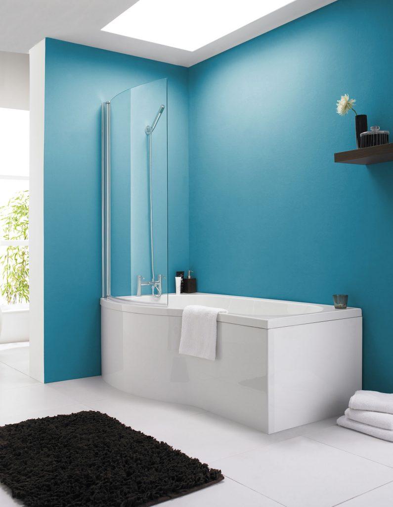100 p shaped bath shower screen steel framed kudos inspire p shaped bath shower screen shower screens perfect glass