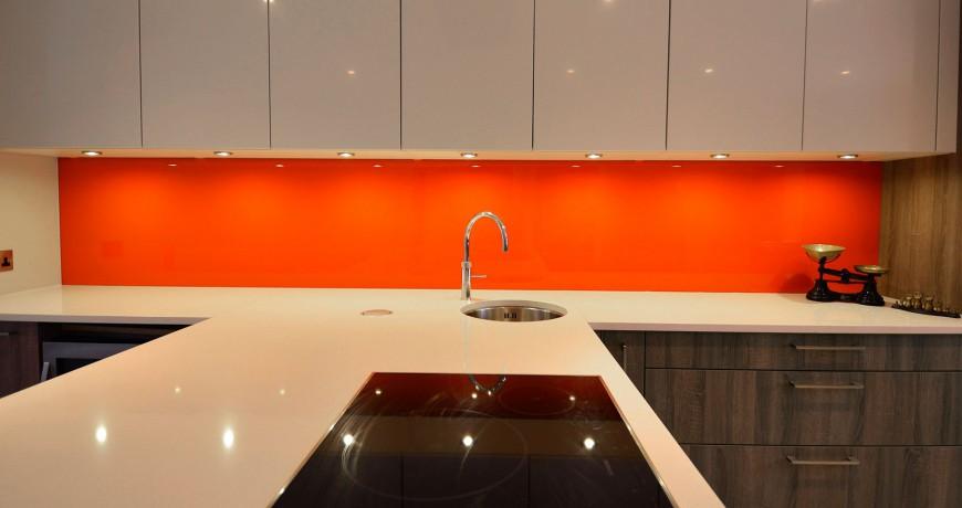 Orange Splashback
