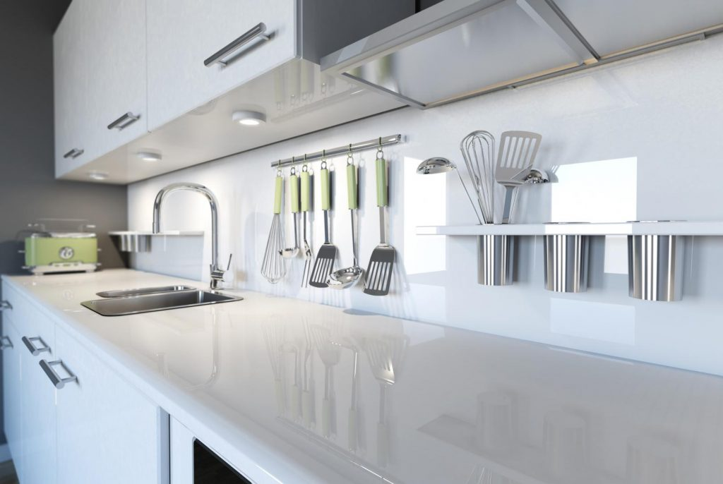 White Splash Back