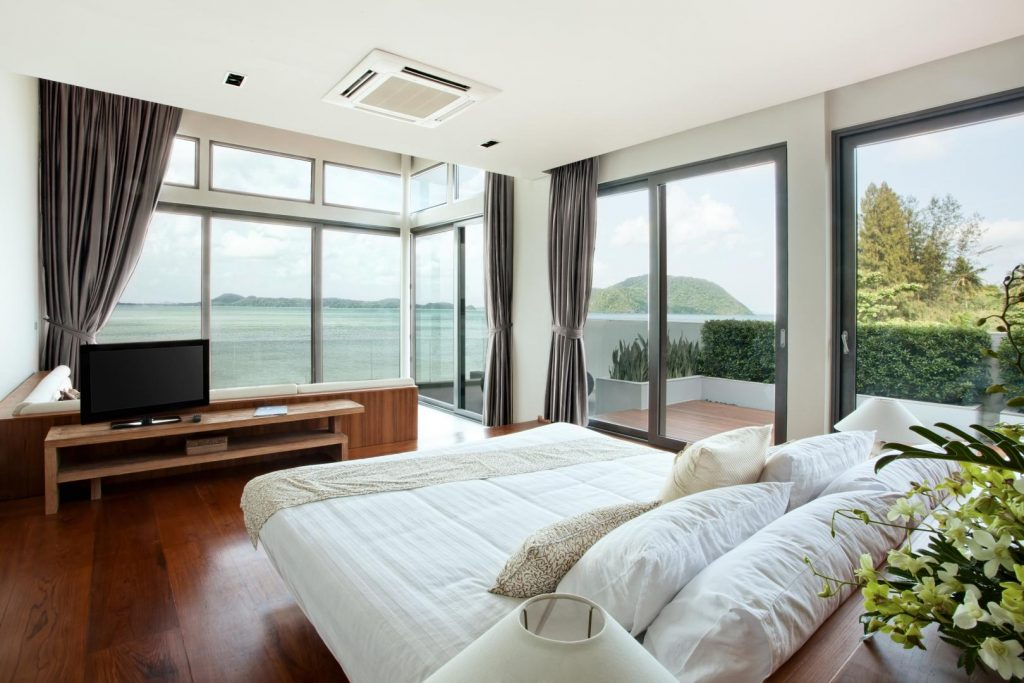Bedroom Glass Walls