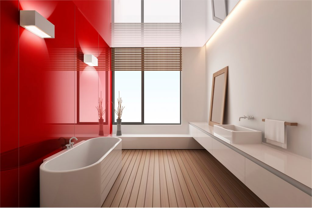 Bathroom Coloured Walls