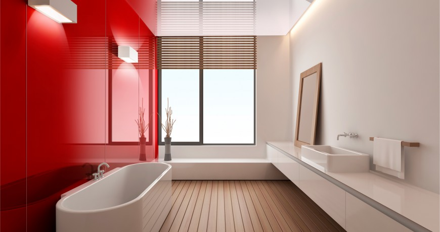 Bathroom Coloured Walls